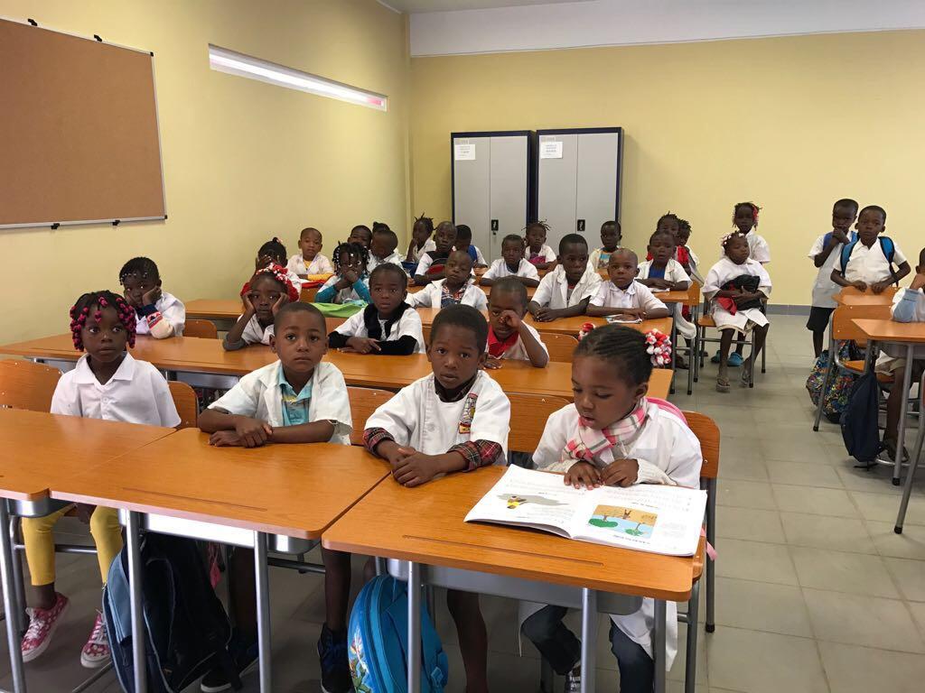 Kids at class